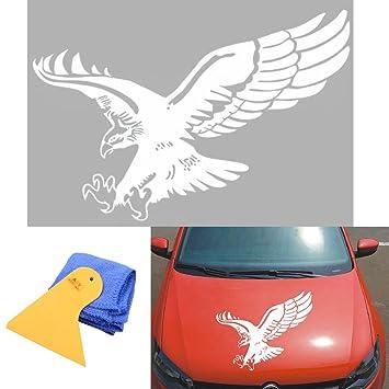 aby 1 pcs Auto Coche Flying Eagle adhesivo de vinilo con instalación de rasqueta y gamuza