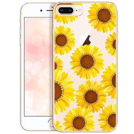 coque iphone 8 fleurs tournesol