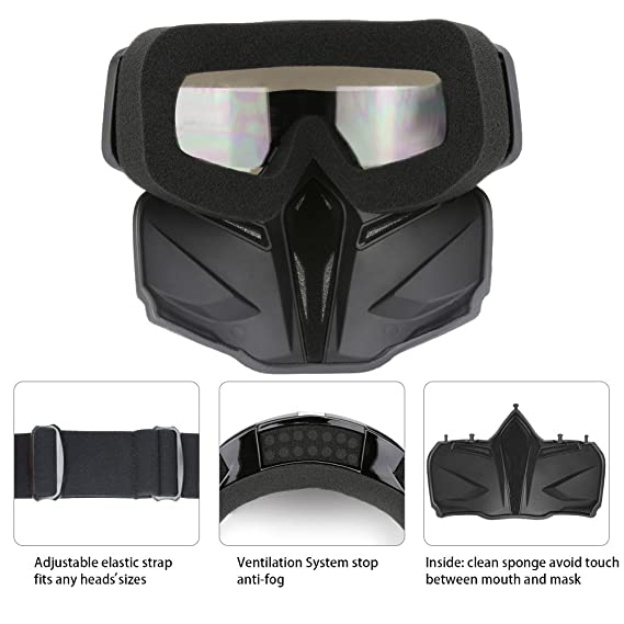 Amazon.com: Motorcycle Helmet Riding ATV Mask Goggle, Full Face Youth Helmet Mask Motocross Recing Dirt Bike Mx Goggles for Men Women Kids (C705): ...