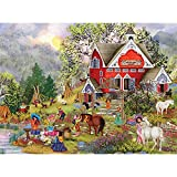 Bits and Pieces - 300 Piece Jigsaw Puzzle for Adults - Luv My Pony - 300 pc Horse Ranch Jigsaw by Artist Tuula Burger