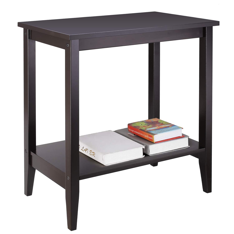 Amazon Com Homfa Wood Tall End Table Sofa Couch Side Coffee Table
