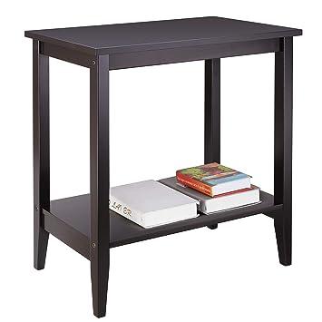 Amazon Com Homfa Wood End Table Sofa Couch Side Coffee Table