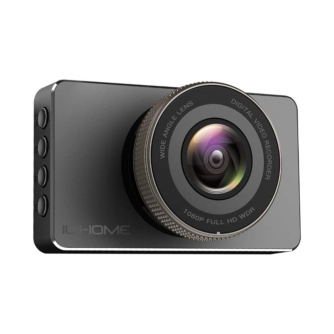 Dash Cam, Ilihome 1080P Full HD Dashboard Camera 3.0' Screen Car Camera DVR Recorder with Night Vision, G-sensor, WDR, Loop Recording, Motion Detection, and Parking Monitor