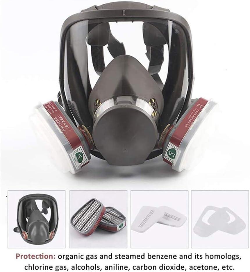 anking Protección Respiratoria De Máscara Completa, A Prueba De Gas, Especial para La Protección De La Seguridad Pública, Opcional Filtro De Algodón Y Cartucho De Filtro,Full Set