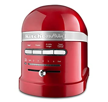 lever kitchenaid empire slice red with high toaster lift