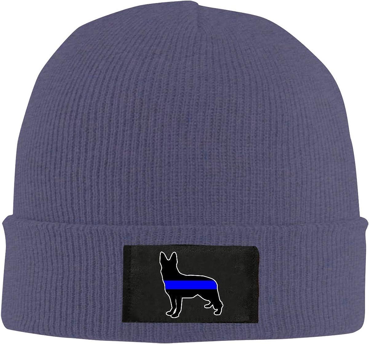 100/% Acrylic Daily Skiing Cap BF5Y6z/&MA Unisex German Shepherd Thin Blue Line Knitting Hat