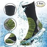 RANDY SUN 100% Waterproof Skiing Socks, Mens' Half-Cushion Dry Warm Multisport Sock Moisture Control & Comfort Medium