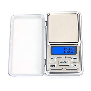 BOLLAER - Báscula de bolsillo de alta precisión, 500 g/0,01 g