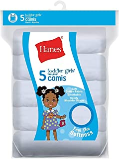 Hanes Ultimate Tagless Cotton Stretch Toddler Girls Cami White 5-Pack