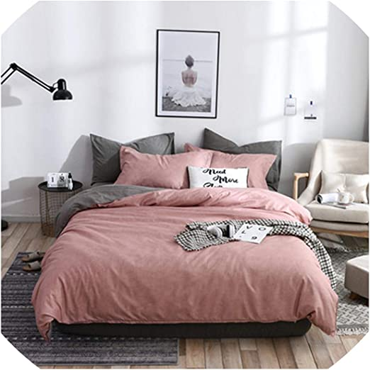 Charcoal Plain Dyed Duvet Cover Poly Cotton Bedding Set  Pillow cases All Sizes