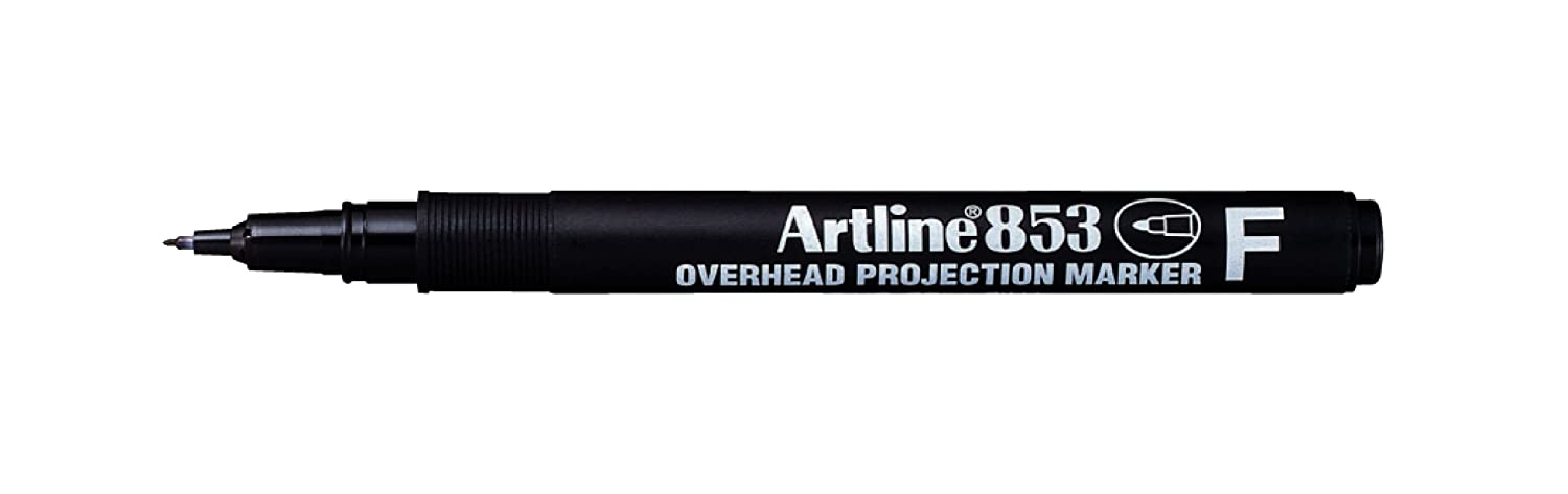 Artline Ek853 testa, sporgenza-Pennarello indelebile, colore: nero Shachihata (Europe) Ltd. EK853 Single Blk