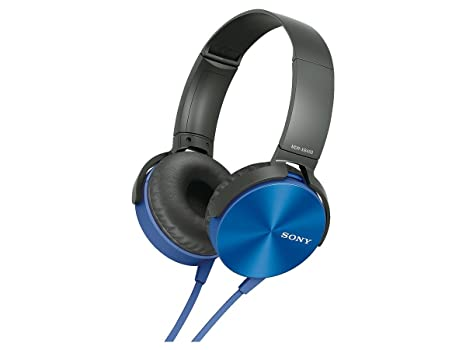 Sony MDR XB450 Extra Bass Smartphone Heatset  Blue  Headphones