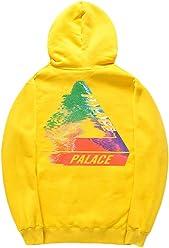 671b8854ba11 CORIRESHA Street Fashion Bright Color Triangle Logo Hooded Sweatshirt