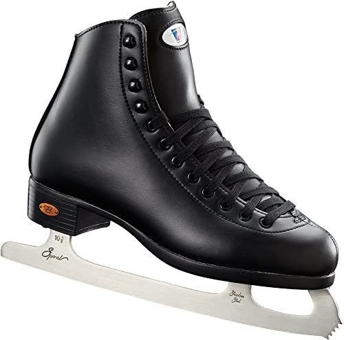 Riedell Skates – 10 Opal – Recreational Youth Ice Skates with Stainless Steel Spiral Blade for Boys