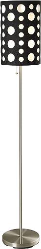ORE International 9300F-BK-WH Modern Retro Floor Lamp
