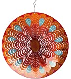 Spin-Art Windspiel Mandala Sun, mehrfarbig, 30x30x0,15 cm, 12MSU300