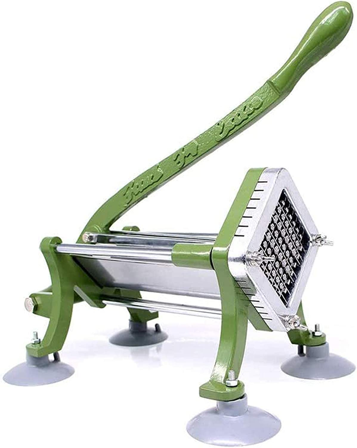 YUEWO French Fry Cutter Uncrustables Commercial Potato Cutter with Suction Feet, 1/4