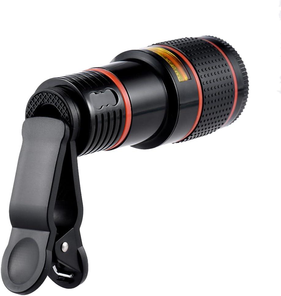 Docooler Portable Camera Lens Universal 12X Zoom Mobile Phone Clip-on Telescope for iPhone 6S 6 Plus Samsung S7 S6 Edge Smartphones