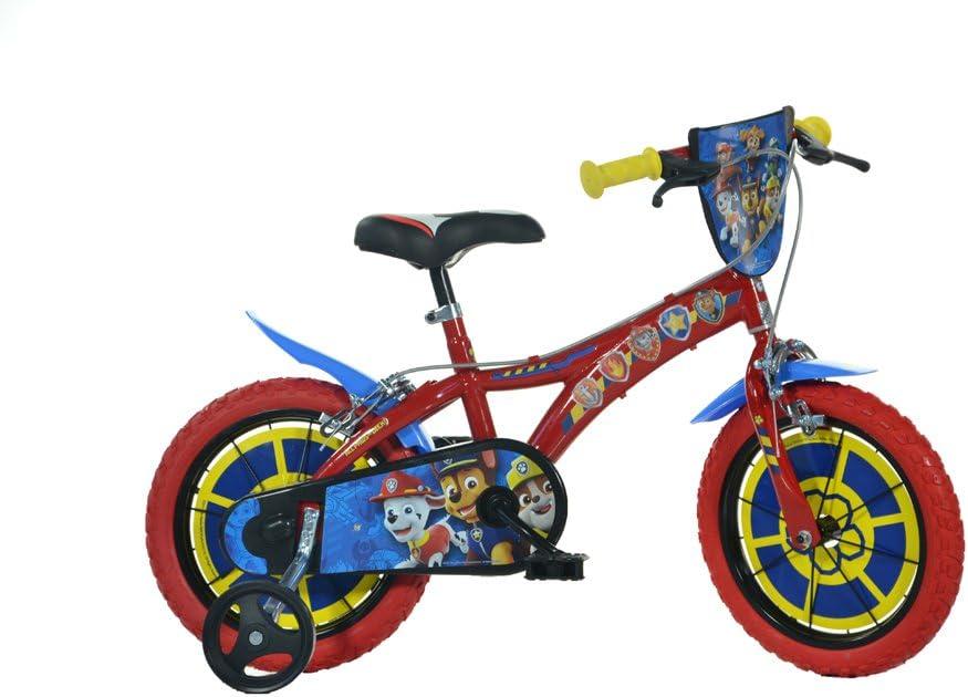 Dino Bikes 614-PW Patrulla Canina Bicicleta, Rojo, 14 Pulgadas