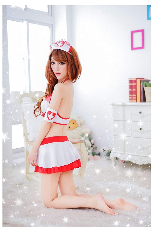Amazon.com: WANG-COS, Enfermera Mujer Sexy Lencería Cosplay ...