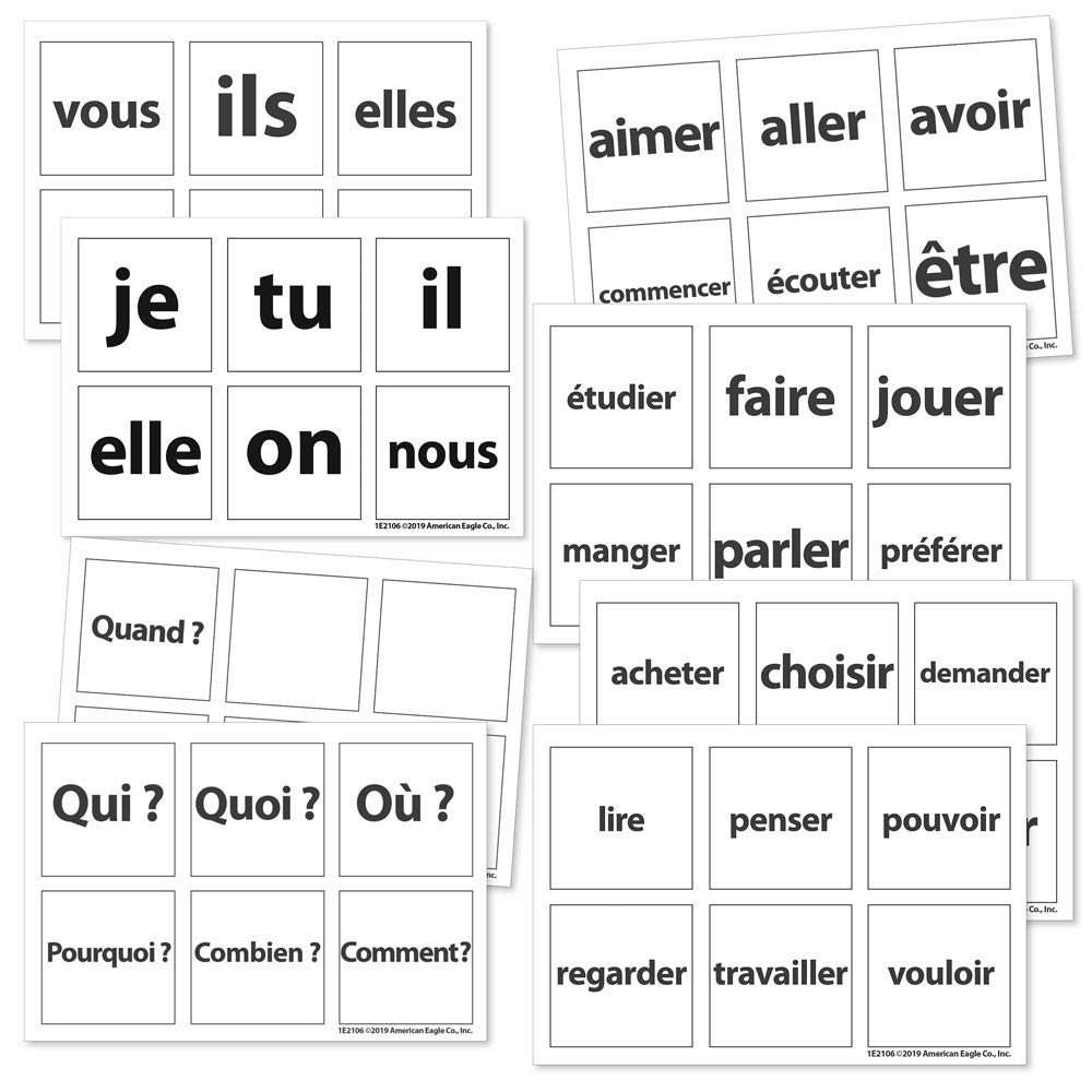 Cool Cubes Sentence Starter French Clings by Teacher's Discovery