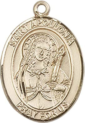 14kt Gold St Apollonia Medal