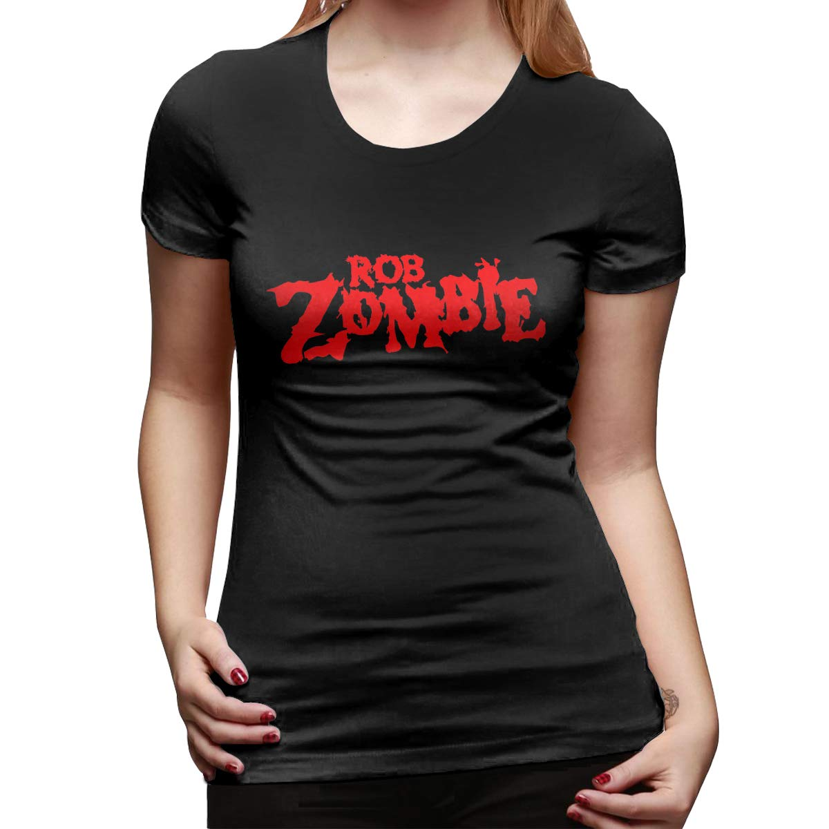Gaohushilaji Womens T-Shirts Rob Zombie Slim Fit Graphic Tees Tops Blouse Short Sleeve T-Shirt