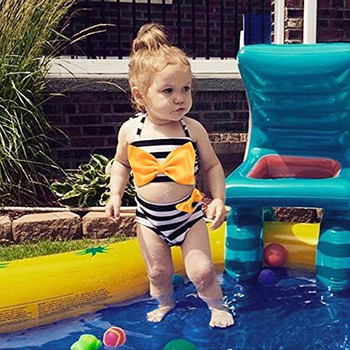2019 Hot Sale!Cuekondy Toddler Baby Girls Kids Fashion Bowknot Ruffles One Piece Swimsuit Swimwear Beach Bathing Suit