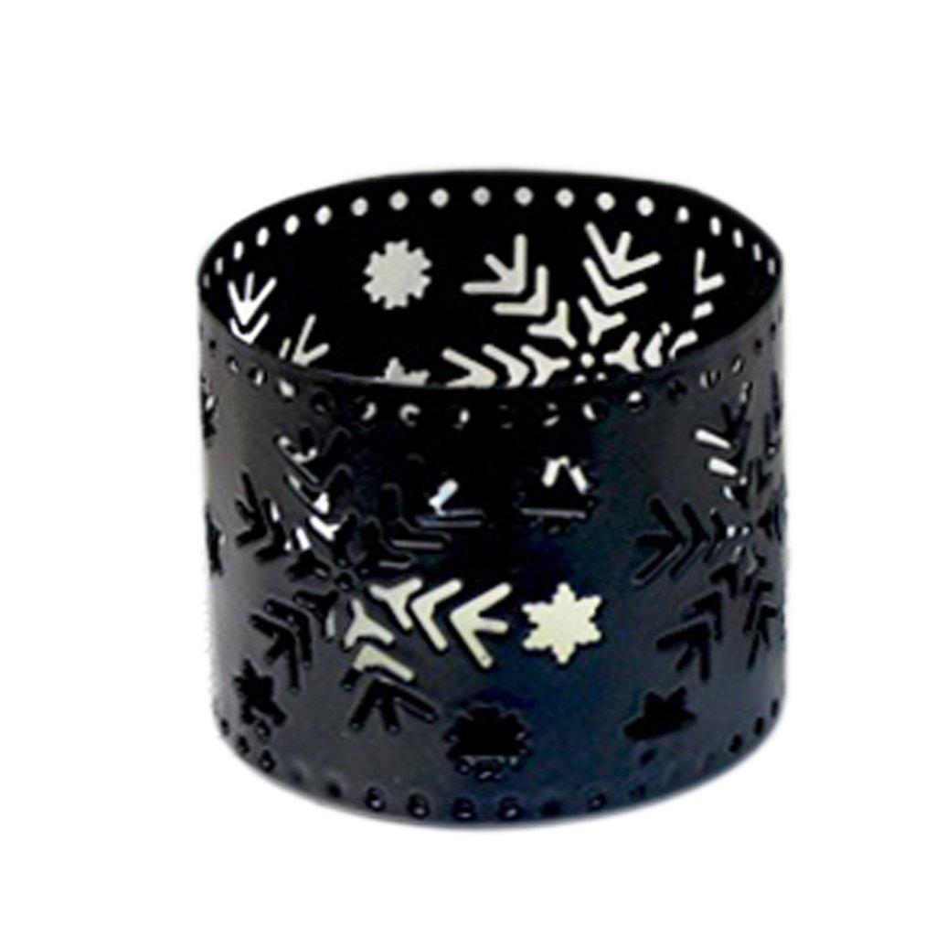 Guoyy Bougeoir De Fer De Noël Bougeoir Vintage Party De Mariage Décorations pour La Maison (Arbre de Noël, Blanc)