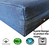 """Dogbed4less DIY Durable Blue Denim Pet Bed External Duvet Cover and Waterproof Internal Case for 55""""X37""""X4"""" XXL Dog Bed - Replacement Covers only"""
