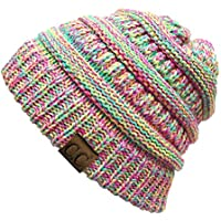 Funky Junque C.C. Trendy Warm Chunky Soft Marled Cable Knit Slouchy Beanie