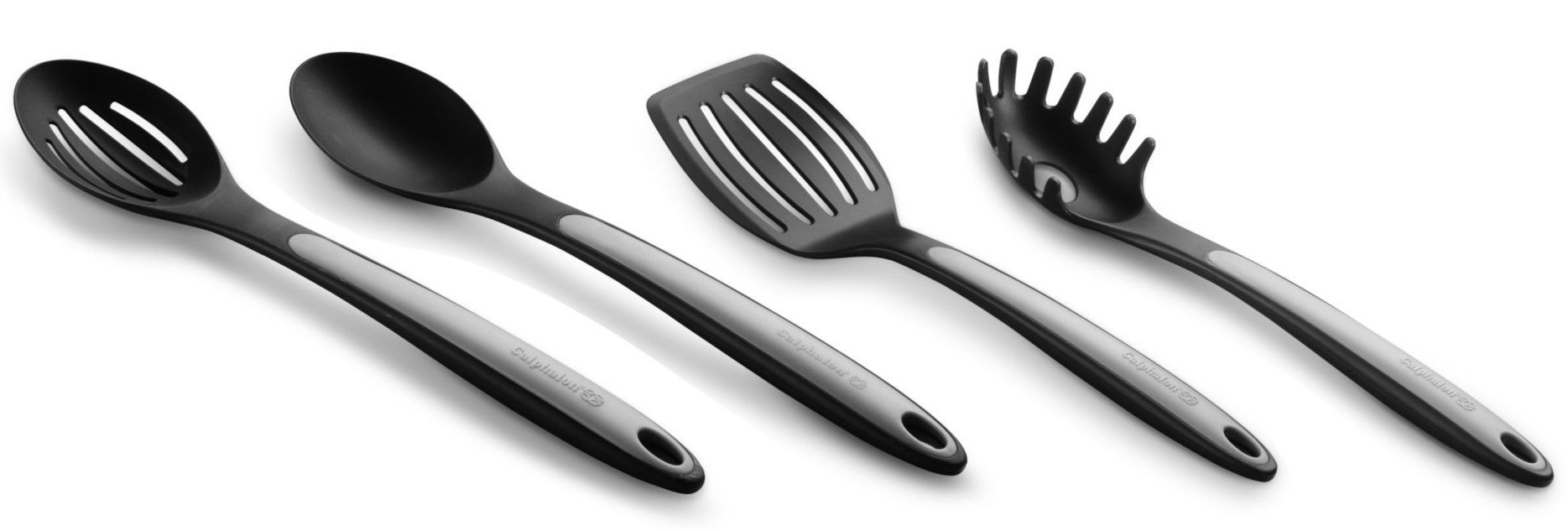 Calphalon Nylon Utensils Spoon, Slotted Spoon, Slotted Turner, Pasta Fork by Calphalon
