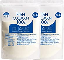 nichie 低分子 フィッシュ コラーゲン 100% パウダー 1kg (500g×2袋)