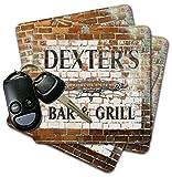 DEXTER'S Bar & Grill Brick Wall Coasters - Set of 4