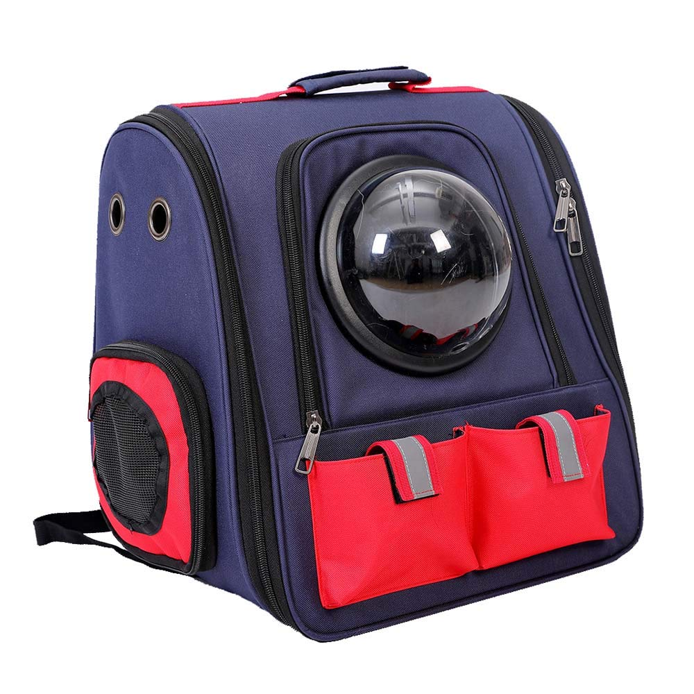 NIANXINAN Comfortable Breathable Travel Double Shoulder Cat Dog Pet Carrier Backpack