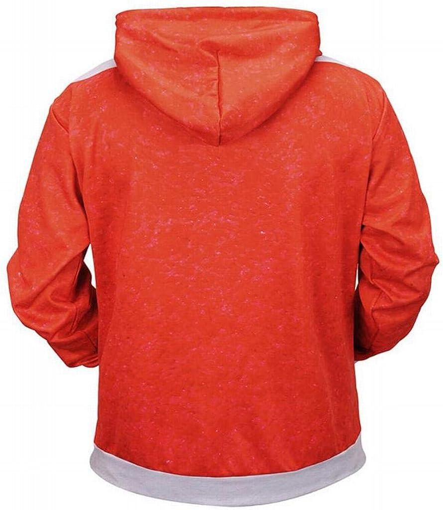 DFBB Mens Relaxed Fit Plus Size 3D Print Santa Floral Pullover Hoodies Sweatshirt