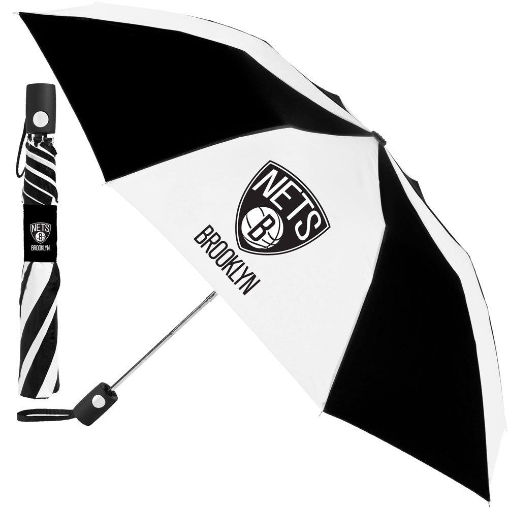Totes Brooklyn Nets NBA Automatic Folding Umbrella