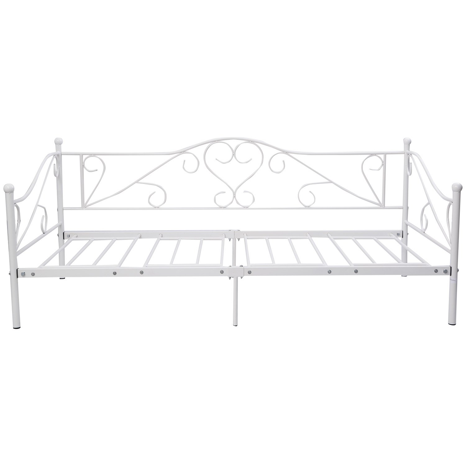 Metallbett 90x200 weiß  Metallbetten | Amazon.de