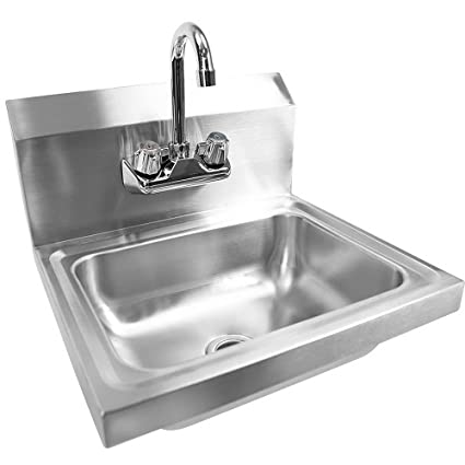 Bonnlo Commercial Stainless Steel Perp/ Bar Sink Hand Wash Sink ...