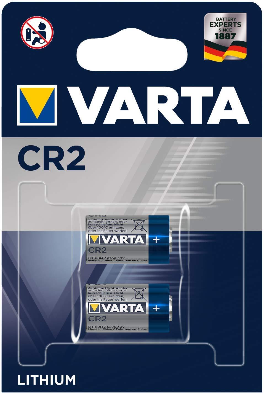 TALLA Pack de 2. Varta CR2 - Pack de 2 pilas (Litio, 3V, 920 mAh)