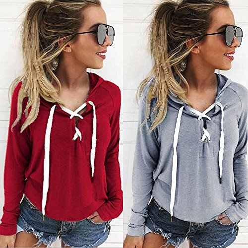 Sexy Dentelle Longues gray en Vtements LILICAT Veste Capuche Mode Veste Pull Manches Sweat Chemise Shirt Culture wqTXRP