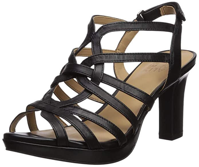 e3229d7bd8a2 Amazon.com | Naturalizer Womens Flora Peep Toe Casual Strappy Sandals |  Heeled Sandals