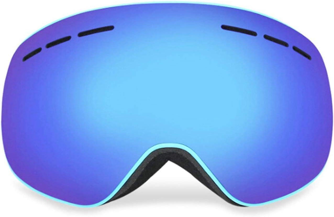 ゴーグル かっこいい マグネット スキーゴーグル カラー 多色 メンズ -AdiSaer ブルー
