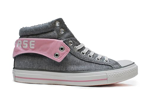 2f1a9b444701 Converse Men s Chuck Taylor Pc2 Mid Grey Pink Canvas Sneakers 3 UK ...