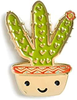 product image for Night Owl Paper Goods Cactus Enamel Pin, Gold