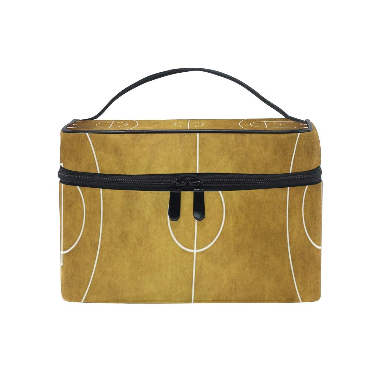 Neceser de maquillaje, diseño vintage de canasta de baloncesto ...