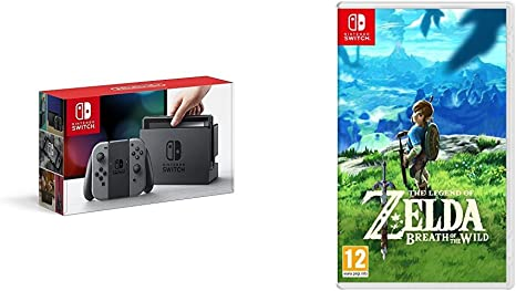 Nintendo Switch - Consola Color Gris + The Legend Of Zelda: Breath Of The Wild: Amazon.es: Videojuegos