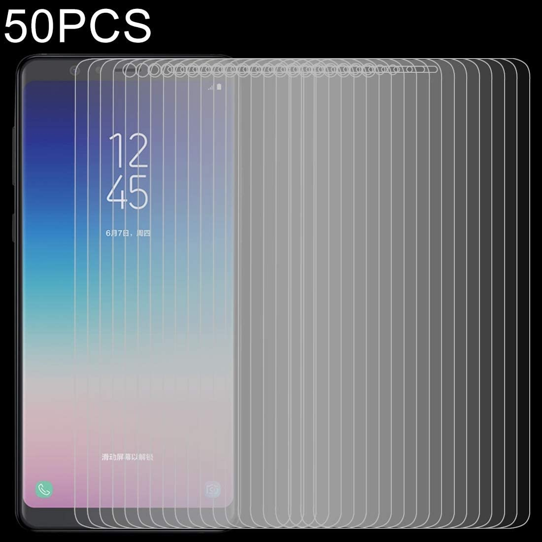 Pokjsofjnjlfkl Phone Accessories 50 PCS 0.26mm 9H 2.5D Tempered Glass Film for Galaxy A9 Star Screen Protectors for Phone