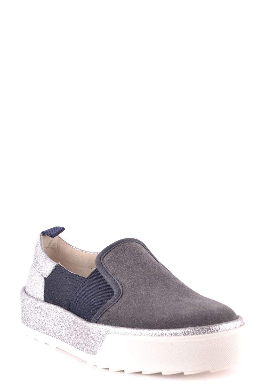 HOGAN Womens MCBI37388 Silver Leather Slip On Sneakers