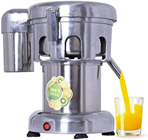 Commercial Juice Extractor, 110V Heavy Duty Centrifugal Juicer Machine Electric Stainless Steel Whole Vegetable & Fruit Juice Maker Squeezer (80-100 kg/hr Juice Amount)
